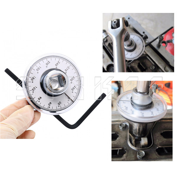"""360 Degree 1/2"""" Drive Adjustable Torque Angle Gauge Meter Angle Rotation Measurer Tool Wrench Auto Repair Check Meter SK1049"""