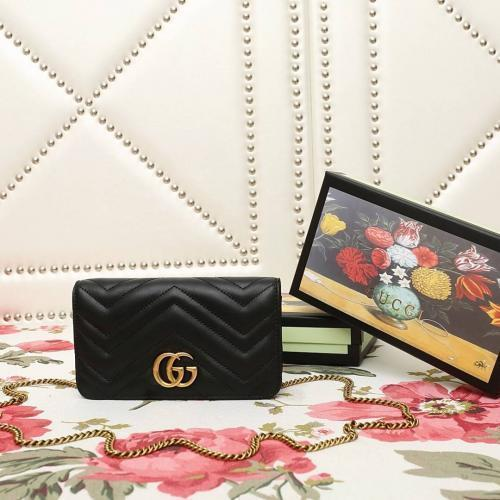 Nouveau Mini-chaîne en cuir humanoïde matelassé 488426 Noir en cuir véritable Iconic Bags Sac à bandoulière Totes Cross Body Business Messenger Bag