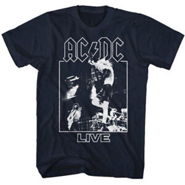 AC / camicia dal vivo sul palco per adulti T shirt Heavy Metal Musica