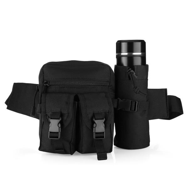 Outdoor Tactical Molle bottle Bag Hip Packs Waist Bag Fanny Pack Hiking Fishing Hunting Waist kettle Bags Sports pocket Bag Belt Pouch