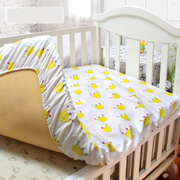 Animal Pattern Fitted Sheet For Newborn Crib Mattress Protector For Girls Boys Cotton Baby Bedding Set 1 Piece Kid Bedding Cover