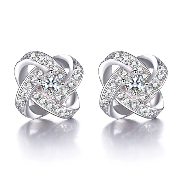 Earrings s925 sterling silver stud earrings rotation love upscale retro female models selling sterling silver jewelry high quality wholesale