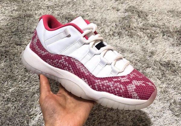 2019 New 11 11 Low WMNS Pink Snakeskin WOMEN Basketballschuhe 11s xi Sport Turnschuhe Outdoor Trainer hohe Größe 36-40