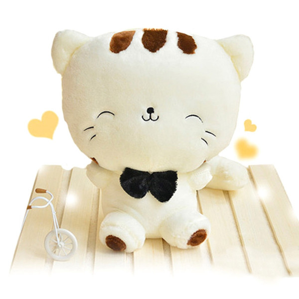 Hot Sale 2 Colors 20CM NEW Cat Plush Animal Stuffed Cat TOY Kid's Party Big Face Plush Doll Y