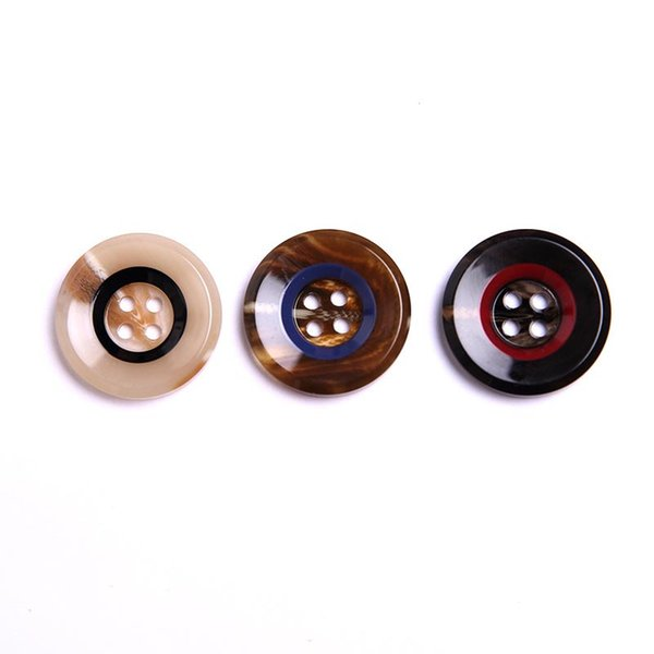 Meetee Resin Button Fashion 4-Hole shirt Coat Buttons For Suits Windbreaker Trousers Clothes Sewing Botones High Quality DIY Craft