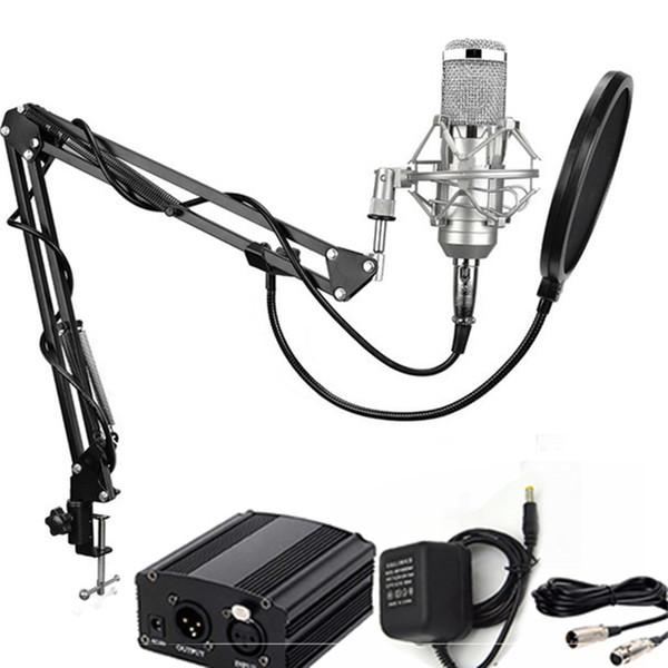 BM - 800 Dynamic Condenser Kabelgebundenes Aufnahmemikrofon Sound Studio mit Shock Mount mit Halter für Aufnahmeset KTV Karaoke