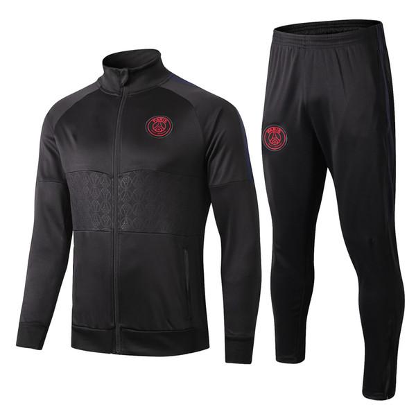 Survêtement de football de haute qualité PSG 2019 2020 à capuche survetement 19 20 CAVANI MBAPPE paris football vestes à capuche broderie