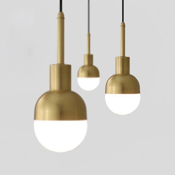 modern Gold Metal Pendant Light Fixture Brass Suspension pendant lammp For Living Room Cafe Restaurant Bar Home Lighting fixtures