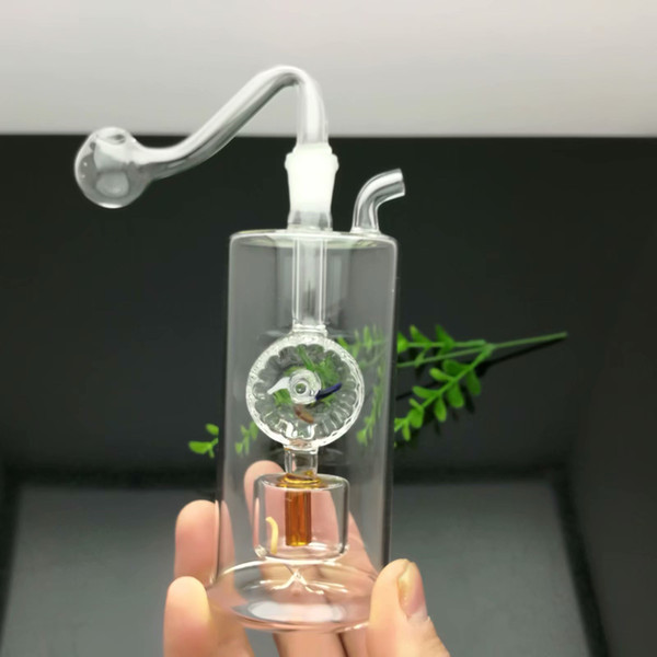 Classic silent filter glass windmill cigarette kettle Wholesale Bongs Oil Burner Pipes Water Pipes Glass Pipe Oil Rigs Smoking Free Shipping