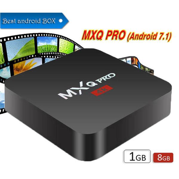 Box per Android TV MXQ PRO 4K RK3229 Quad Core 1G 8G Android 7.1 Supporto per lettore multimediale in streaming Wifi Smart Ott Set Top Box IPTV
