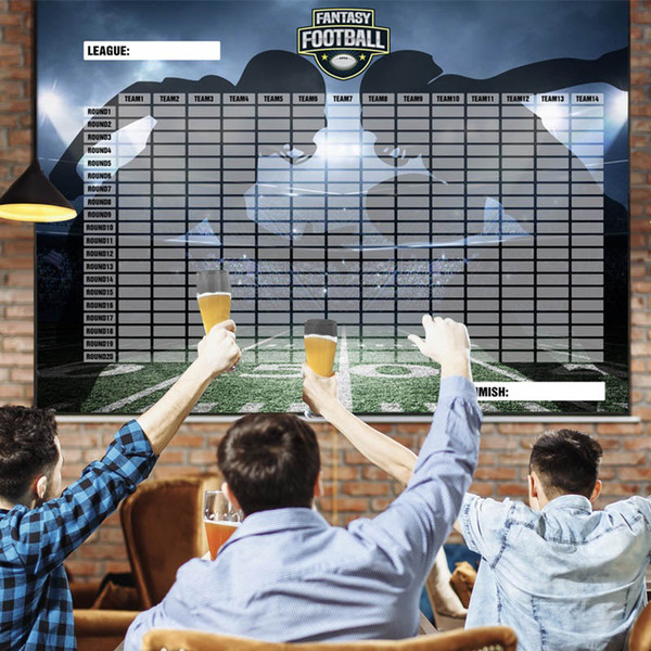 best selling 2020-21 Large Fantasy Football Draft Board and Player Label Kit The Largest Draft Day Board (5,7 x 4 ft) and Over 470 Player Labels
