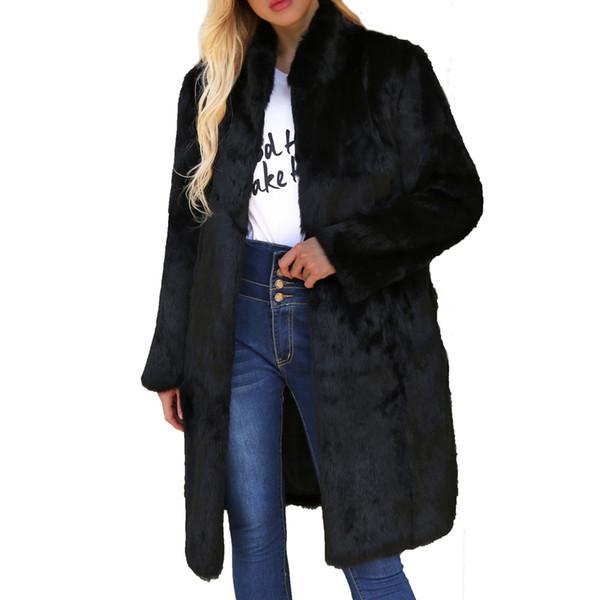 JAYCOSIN 2018 Womens Coats Womens Warm Artificial Wool Coat Stand Collar Jacket Winter Parka Outerwear Winner 18 OCT16