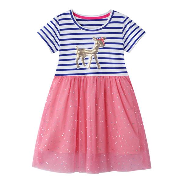 Robe enfants Robe en jersey bébé 2020 Vente chaude 100% coton Robes pour enfants Vêtements de bébé Vêtements fille