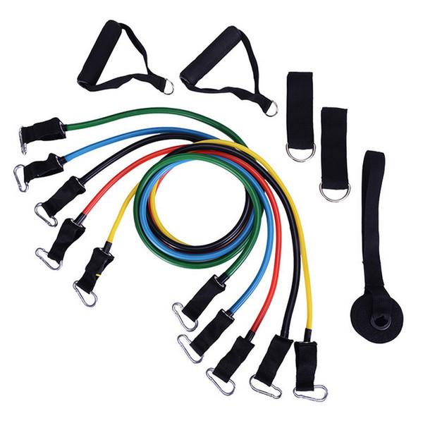 11 Traje multifuncional con cordón Elástico Cuerda Banda de goma Tubo de látex Hombres y mujeres Gimnasio Brazo