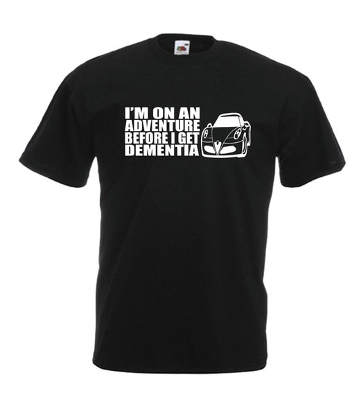 MOTOR CAR ADVENTURE divertente tee compleanno xmas idea regalo uomo donna T SHIRT TOP