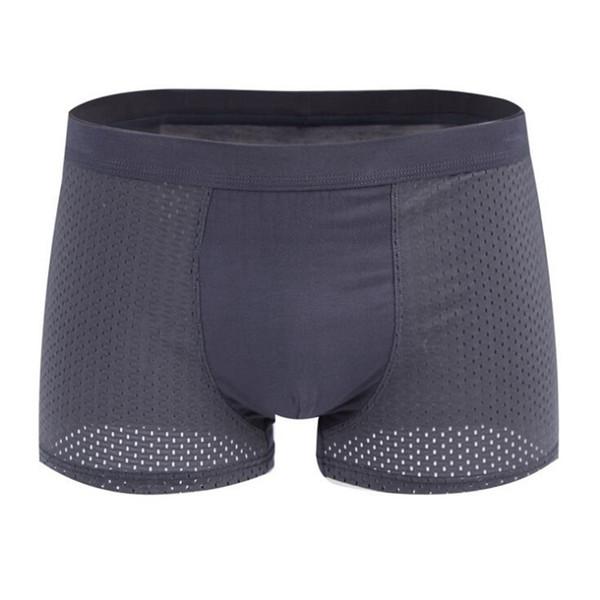5pcs / lot sous-vêtements pour hommes boxeurs maille shorts en soie de soie sous-vêtements pour hommes boxeurs respirant plus la taille boxeur hommes boxeur