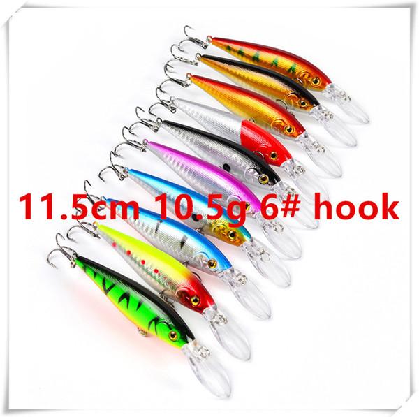 11.5cm 10.5g 6# hooks