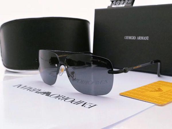 고품질 망 여자 기울기 조종사 선글라스 안경 디자이너 Vassl Sun Glasses Gold Frame 갈색 케이스가있는 파란색 유리 렌즈