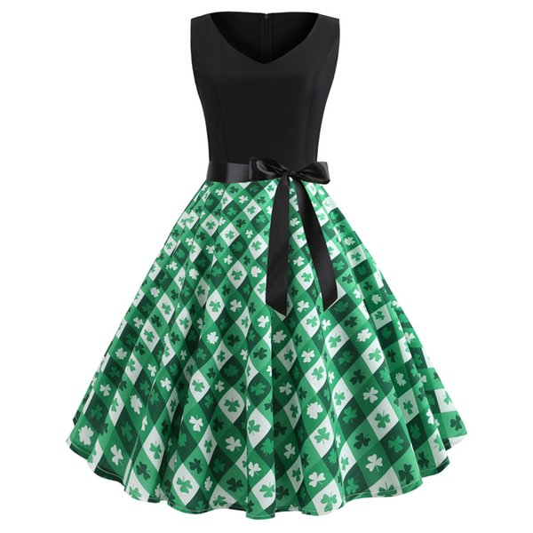 Women's Fashion Leave Print Party Prom Swing Slim Dress Valentines' Day Gift Beautiful Dress For Her