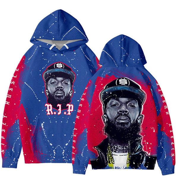 Nipsey Hussle XXXTENTACI diseñador de Hip Hop con capucha de la cremallera de la chaqueta con capucha Moda diseñador ocasional chaqueta con capucha del tamaño S-4XL