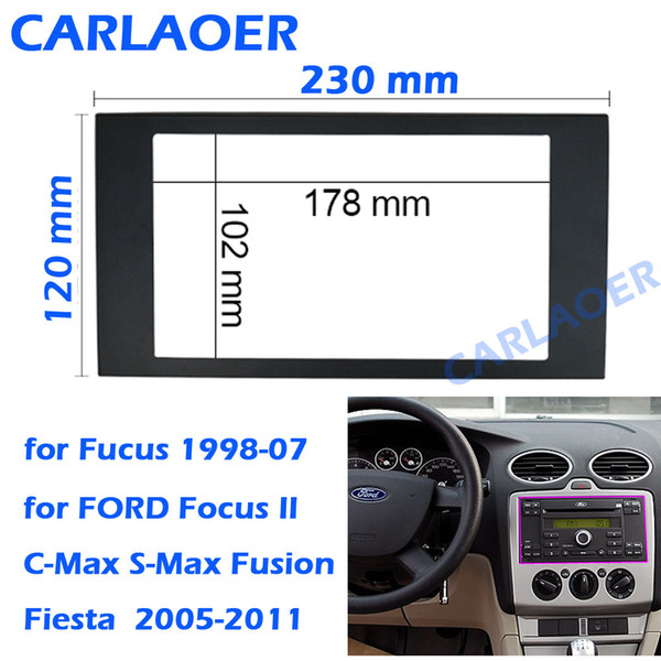 Compre Para Ford Focus 2 Din Quadro Para Radio De Carro Para C Max S Max Fusao Transit Fiesta Usar Carro Multimidia Radio Jogador Duplo Din Fascia