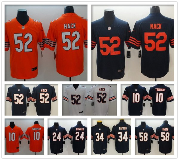 new products 5af3a a5f83 2019 Cheap #52 Khalil Mack Chicago Bears Akiem Hicks Football Jersey Youth  Kid Mitchell Trubisky Eddie Jackson Tarik Cohen Women Men Jerseys From ...