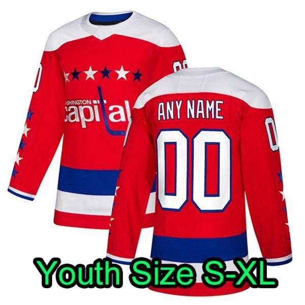 빨간색 세 번째 청소년 : Size S-XL