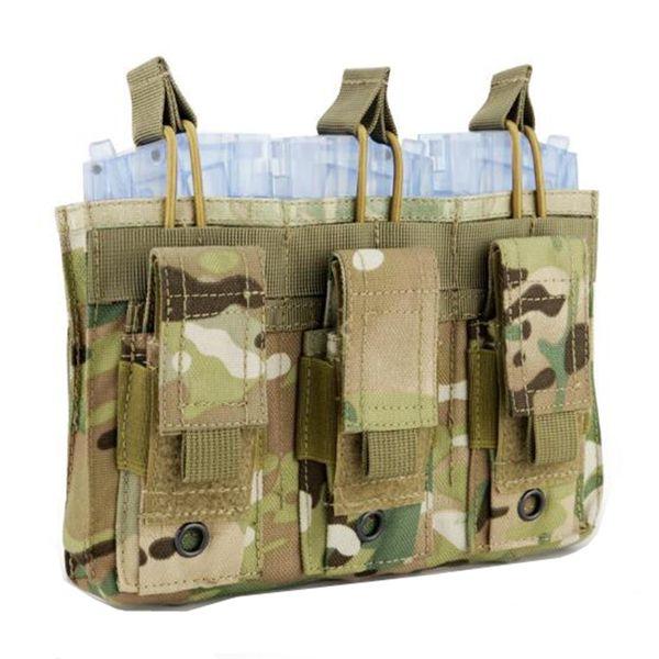 best selling MOLLE Tactical PVC package Multi-function triple package(BK DE MC Green)