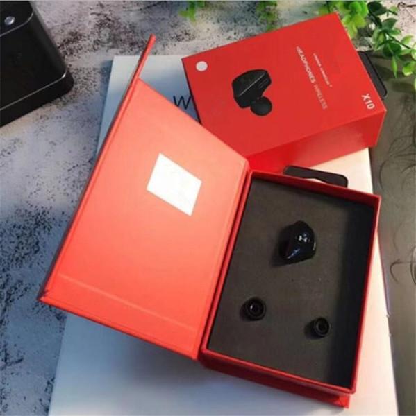 Marque X10 Casque Bluetooth Écouteurs sans fil à double canal avec logo pour casque de sport In Ear