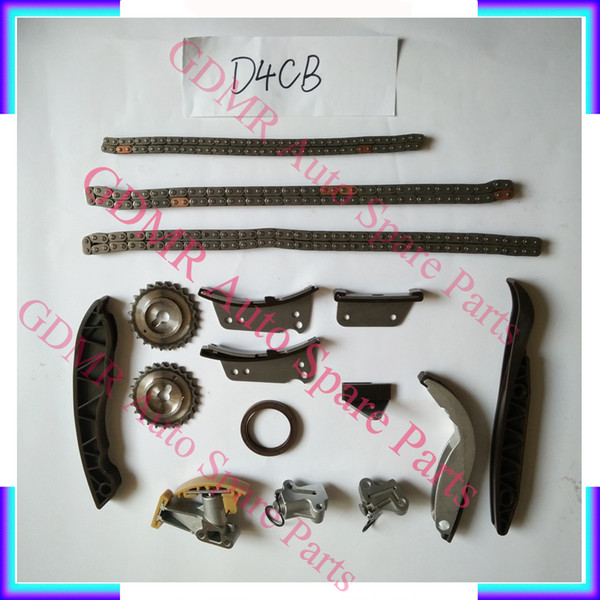 Auto Engine parts D4CB timing chain kit for Hyundai H1 H200 Starex Porter 2497CC 2.5CRDI
