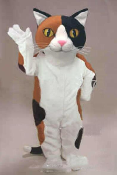 Calico Cat Mascot Costume Cartoon Character Adult Size Theme Carnival Party Cosply Mascotte Outfit Suit FIT Fancy Dress