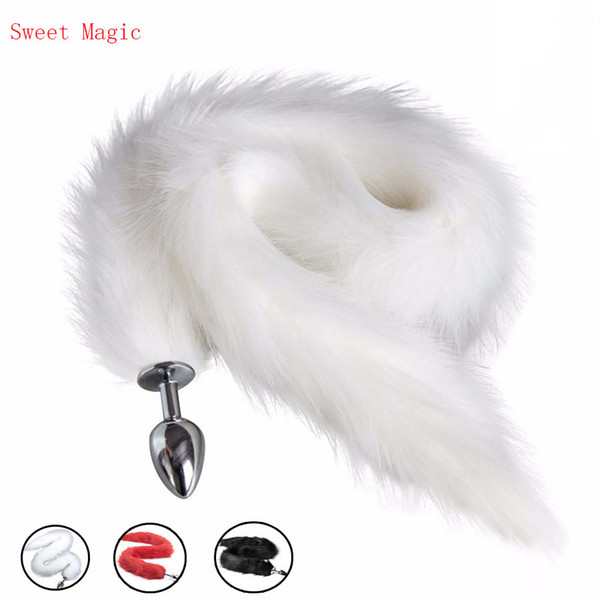 Sexy Charming Long Fox Tail Anal Plug Sex Role Play Flirting Fetish dog tail sex Toy Cosplay Accessories Dildo Adults Sex Produts