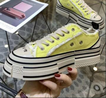 Top quality! The latest casual shoes big Size 35-45 Thick sole top stars Classic Canvas Shoe Men's/Women's Canvas Shoes qwefrd133