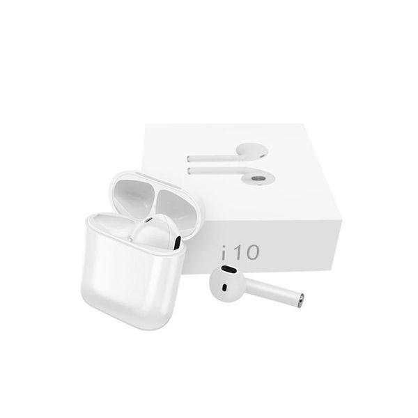 I10 TWS Wireless bluetooth 5.0 Earbuds Earphone Sports Stereo headset Headphones with Mic Charging box PK I7S I8X I9S hot sale