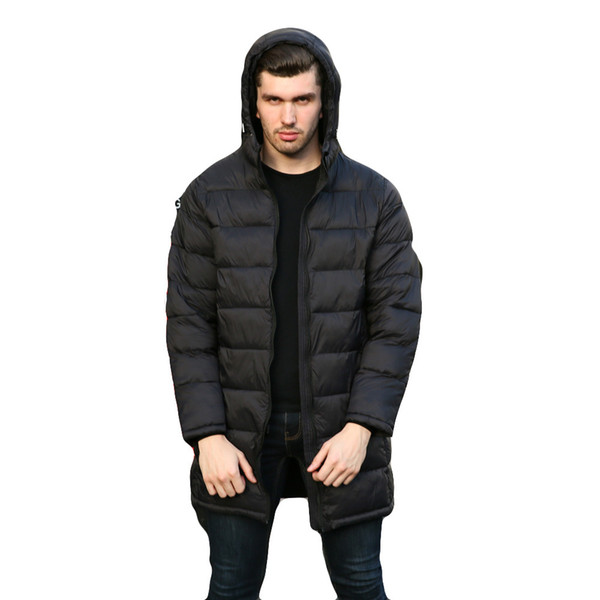 Veste d'hiver Hommes Mode Poids léger manteau long et plumes Manteau en Automne Hiver chaud Hommes Parkas Homme Manteau 2019