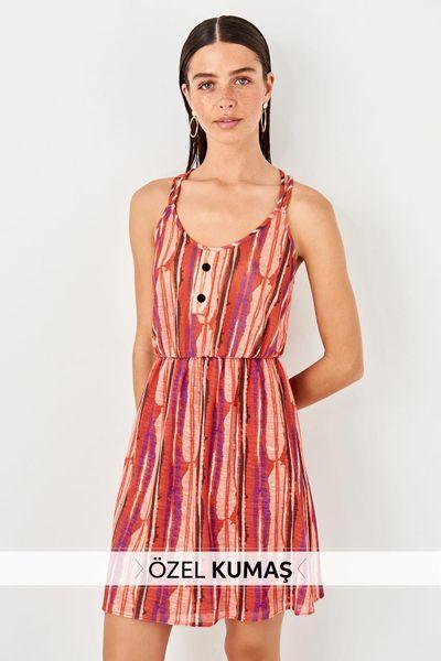 Trendyol With Multi-Colored Strap Knit Dress TWOSS19LJ0339