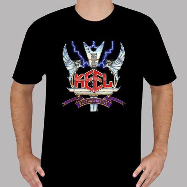 KEEL O DIREITO DE ROCK Metal Rock Band T-Shirt frete grátis Unisex Casual Tshirt top