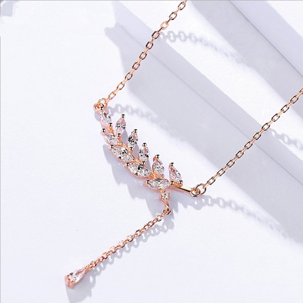 A432 rose gold necklaces