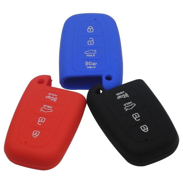3 Кнопки ключа автомобиля Дело Силиконовый чехол Shell Складной ключ Обложка для Kia Soul Sportage Автомобиль дистанционного Смарт Fob
