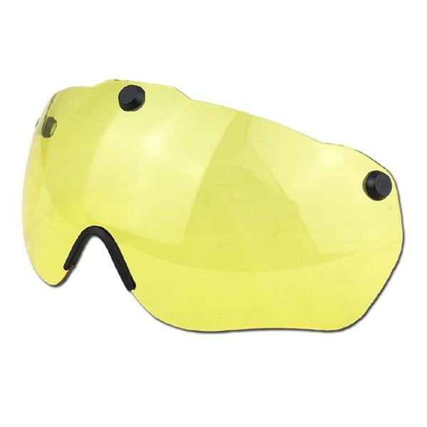 Mountainbike Radfahren Magnetische Brillenglas Fahrrad Sicherheit Transparente Sonnenblende für Gub K80 Plus Helm - Gelb