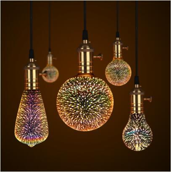 3D LED Lamp Edison Light Bulb Vintage Decoration E27 110V 220V LED Filament lamp Copper Wire String Replace Incandescent Bulb