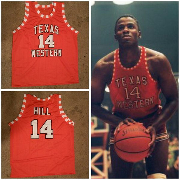 Glory Road Бобби Джо Хилл Техас Вестерн # 14 Колледж Ретро Классический Баскетбол Джерси Мужские Сшитые на заказ номер и имя Трикотажные изделия