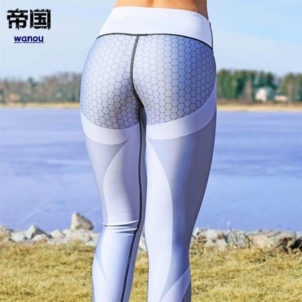 Women Yoga Pants High Elastic Fitness Sport Leggings Tights Running Sportswear Sports Pant Girl Gym Workout Training Trousers