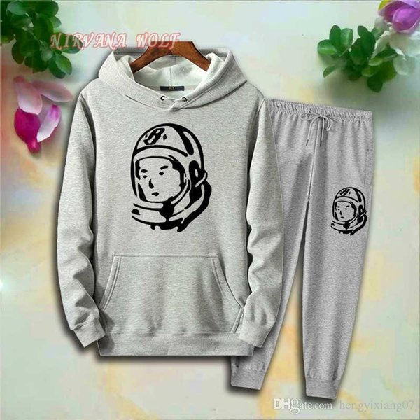 BBCLUB Children Sports Suits Kids Sets 1-7T Kids Hoodies Pants 2Pcs/sets Boys Girls 95% Cotton Astronaut Design Printing Style Spring set