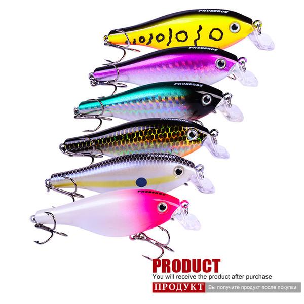 Nouvelle Arrivée Bionic Rock Fishing Appâts De Pêche Appâts Swimbait Wobbler En Plastique Nouveau 85mm / 11g 4 # Crochet 6 Pcs / Ensemble