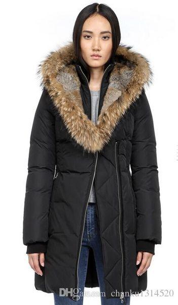 Women's Down jacket WINTER MAC-TRI-F4-A706 Down & Parkas Brand Real Raccoon Fur Collar White Duck Outerwear & Coats WITH FUR HOOD