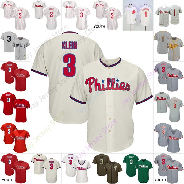55a5dfd8 Custom Philadelphia Chuck Klein Jersey Phillies Jerseys Cool Base Flexbase  Home Away All Stitched White Black