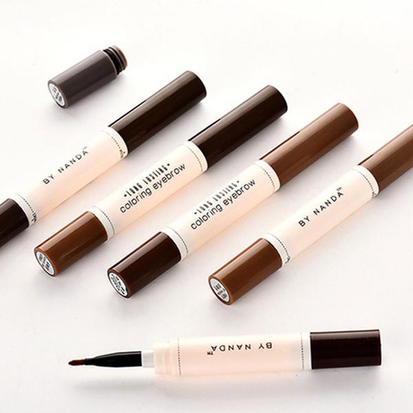 4 Colors Professional Natural Makeup Eyebrow Pencil Gel Enhancer Brow Tint Tattoo Paint Cream Waterproof Eyebrow Brush Pen
