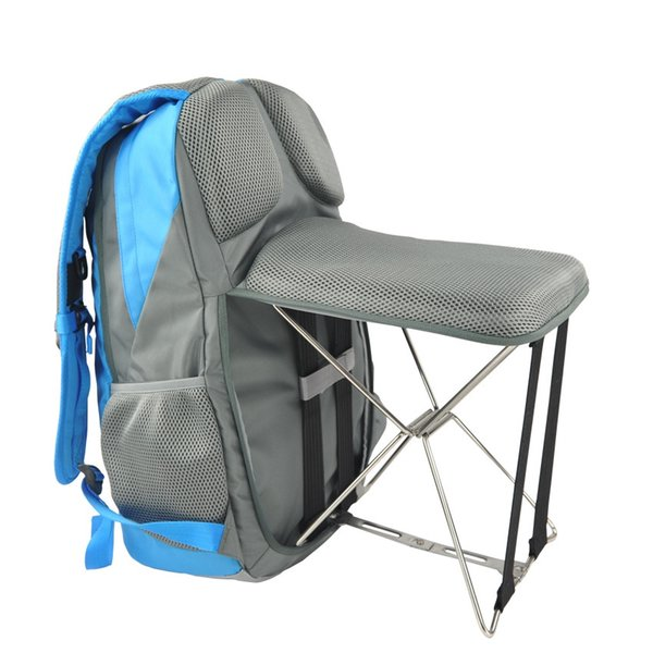 PLAY-KING Fishing chair folding outdoor leisure sports bag Wearable bench stool backpack hiking hiking multi-function backpack #208672