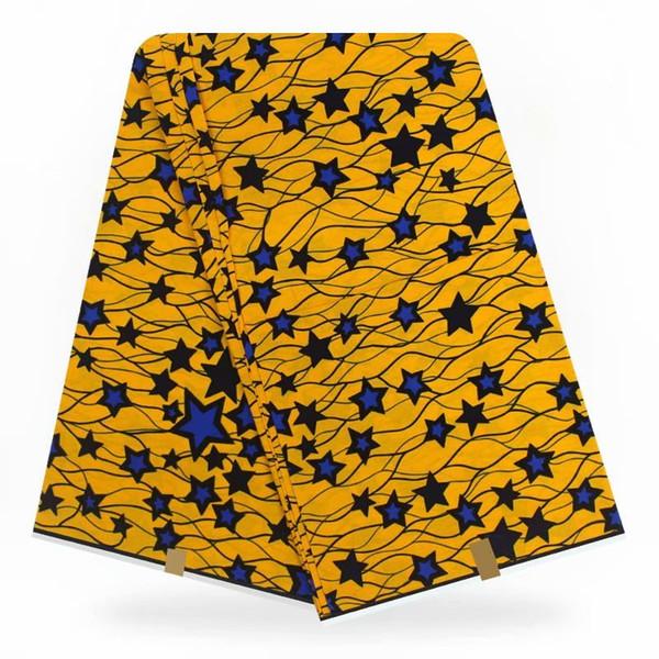 Afrika balmumu baskılar desen Ankara kumaş elbiseler% 100% pamuklu kumaş gerçek java balmumu baskı Nijerya Ankara 6 yard / lot TX07